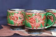 上絵魚紋マグカップ